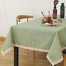 Stoff Frische Tischdecken/Pastorale Baumwolle Und Leinen Tischdecke/Einfache Und Moderne Couchtisch Tuch-H 140x220cm(55x87inch)