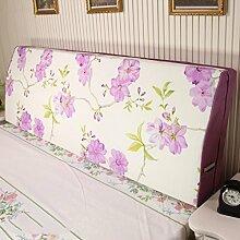 Stoff Kissen Mode Bettdecke Soft Tasche Rückenlehne Schwamm große Rückenlehne (7 Farben erhältlich) ( Farbe : A , größe : 180*50*12cm )