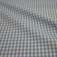 Stoff Meterware Bauernkaro hellblau weiß 1 Meter