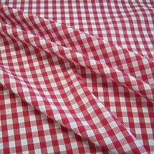 Stoff Meterware Bauernkaro rot weiß Karo kariert Baumwollstoff