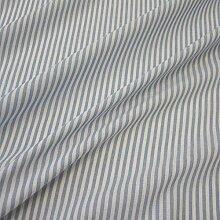 Stoff Meterware Bauernstreifen hellblau weiß