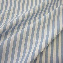 Stoff Meterware Bauernstreifen hellblau weiß Streifen gestreift Landhaus Gardine
