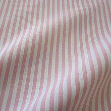 Stoff Meterware Bauernstreifen rosa weiß Streifen gestreift Landhaus Gardine