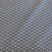 Stoff Meterware Baumwolle blau weiß Seigaiha beschichtet Wellen Japan Tischdecke abwaschbar