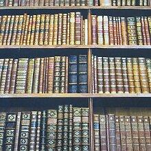 Stoff Meterware Baumwolle Buch Bücher Regal Fotodruck Bibliothek Bücherregal Dekostoff