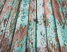 Stoff Meterware Baumwolle Shabby Holzwand mint Fotodruck Digitaldruck Bretter Zaun