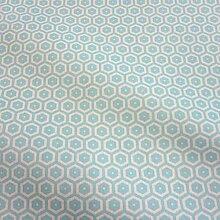 Stoff Meterware Baumwolle türkis Wabe Kikko Japan Tischdecke abwaschbar