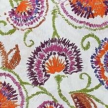 Stoff Meterware Möbel Fantasie Blumen Stickerei Tischdecke Sofa Kissen Haus giosal Al metro mehrfarbig