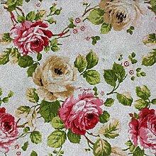 Stoff Meterware Möbel Fantasie Flower Stickerei Tischdecke Sofa Kissen Haus giosal 2,80m x 2,80m Rosa