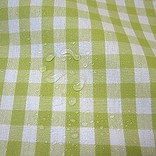 Stoff Meterware wasserdicht Bauernkaro 1cm hellgrün weiß beschichtet Wachstuch Tischdecke