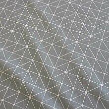 Stoff Meterware wasserdicht grau Origami weiß Linien Wachstuch Tischdecke abwaschbar