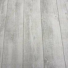Stoff Meterware wasserdicht Holz Shabby Bretter Planken weiß Wachstuch Tischdecke abwaschbar
