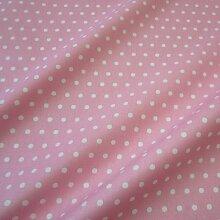 Stoff Meterware wasserdicht Punkte rosa weiß Tischdecke Regenjacke 6mm