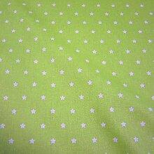 Stoff Meterware wasserdicht Sterne hellgrün weiß Wachstuch Tischdecke abwaschbar