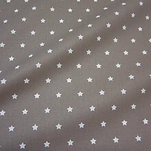 Stoff Meterware wasserdicht Sterne taupe beige Wachstuch Tischdecke abwaschbar