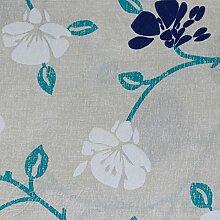 Stoff Möbel Fantasie Blumen Stickerei Tischdecke Sofa Kissen giosal Al metro hellblau