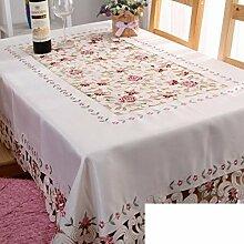 Stoff Spitze Kaffee Tuch,Runde Tischdecke,Tabelle Tuch Tischdecke-A 60x60cm(24x24inch)
