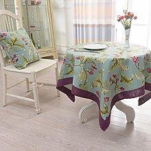 Stoff Tischdecke Baumwolle American Puzzle Runde Tischdecke,Couchtischdecke Tuch,Tv-schrank Quadratischen Tischset-C Durchmesser100cm(39inch)