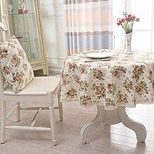Stoff Tischdecke Baumwolle American Puzzle Runde Tischdecke,Couchtischdecke Tuch,Tv-schrank Quadratischen Tischset-F Durchmesser200cm(79inch)