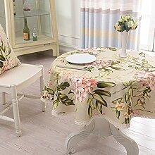 Stoff Tischdecke Baumwolle American Puzzle Runde Tischdecke,Couchtischdecke Tuch,Tv-schrank Quadratischen Tischset-B diameter120cm(47inch)