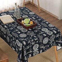 Stoff Tischdecke Baumwolle Canvas/Die Vintage Tischdecke/Tee Tischdecke-A 80x120cm(31x47inch)