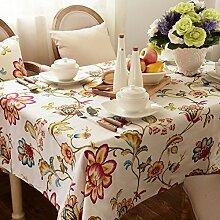 Stoff-tischdecke,couchtisch stoff tischdecke,europäische garten staubtuch-B 140x140cm(55x55inch)