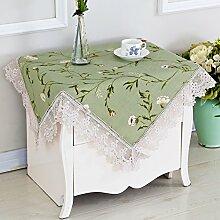 Stoff-Tischdecke/Spitzen Sie Tischdecke/Wohnzimmer Mit Garten Tischtuch-L 80x80cm(31x31inch)