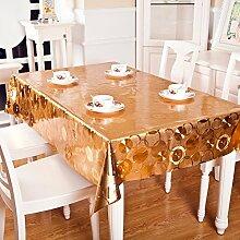 Stoff Tischdecke/Wasserdicht Streifen Tischdecke/ schlaffe Tischdecke/Tischdecke decke/[Kunststoff]PVCMatte/Tischdecken/ ölfreie Waschlappen-B 90x137cm(35x54inch)