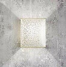 Stoff Wandlampe Loft Design eckiger Stoff Schirm