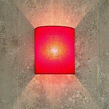 Stoff Wandleuchte ALICE Rot halbrund Loft Design
