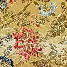 Stoff Zierkissen Stickerei Blumenmuster Tischdecke Sofa Kissen giosal 2,80m x 2,80m gold