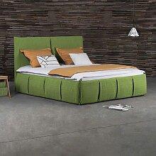 Stoffbett in Grün modern