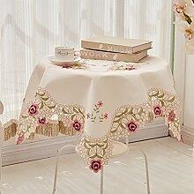 Stoffe/spitze,ländlichen,european-style coffee table cloth/runde tischdecke/tischtuch/ stickerei,little peach tischtuch-A Durchmesser175cm(69inch)