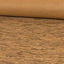 Stoffe Werning Korkstoff rustikal Holzoptik braun