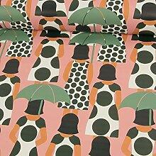 Stoffe Werning Regenjackenstoff Frau mit