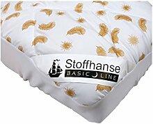 Stoffhanse Unterbett, weiß-gold, 100 x 200 cm