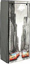 Stoffschrank Schuhschrank Motiv mit gelben Taxi New York 8 Fächer
