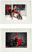Stoffservietten 2er Set Ducati