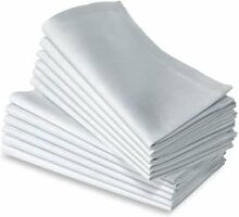 Stoffservietten, 4 Stück, Weiß, 51x51cm