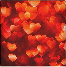 Stoffservietten mit roten Herzen, für den