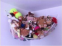 Stofftiere Hängematte, huijukon Spielzeug Hängematte Net Organizer für weiche Stofftiere, Teddies (142,2x 101,6x 101,6cm)