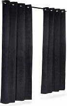 Stoller Thermovorhang-Set mit Ösen, verdunkelnd