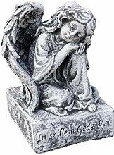 Stone and Style Grabschmuck Engel auf Sockel, mit