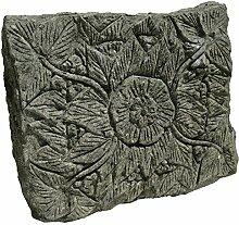 STONE art & more Blüten-Relief, Trittplatte,