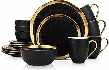 Stone Lain Gold Halo Porzellan-Geschirr-Set,