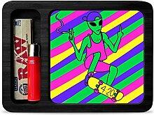 Stoner Skater Alien Rolling Tray Smoking Gift Set