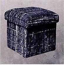 Stones Carpet 44Hocker, Baumwolle, Mix Natural, 45x 45x 45cm