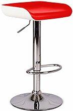 Stones Ken Set 2Hocker, Kunstleder/Metall, Weiß/Rot, 41x 38x 64cm, 2Einheiten
