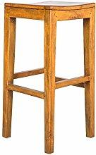 Stones Kollektion Hollywood Hocker, Holz, Braun, 35x 35x 75cm