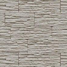Stones & Style Steintapete 47000-30 Tapete Ziegel grau